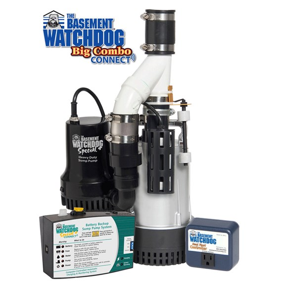 BW4000 Big Combo Combination primary pump and backup sump pump