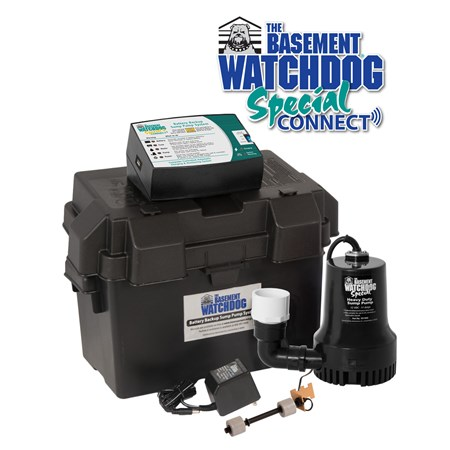 BWSP CONNECT Battery Backup Pump with logo