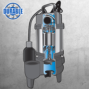 Built-to-last Basement Watchdog Sewage Pump