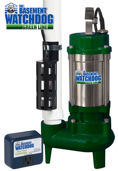 BWSS100 sump pump with BWC1 dual float switch