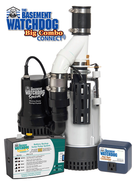BW4000 Big Combo Combination primary and backup sump pump